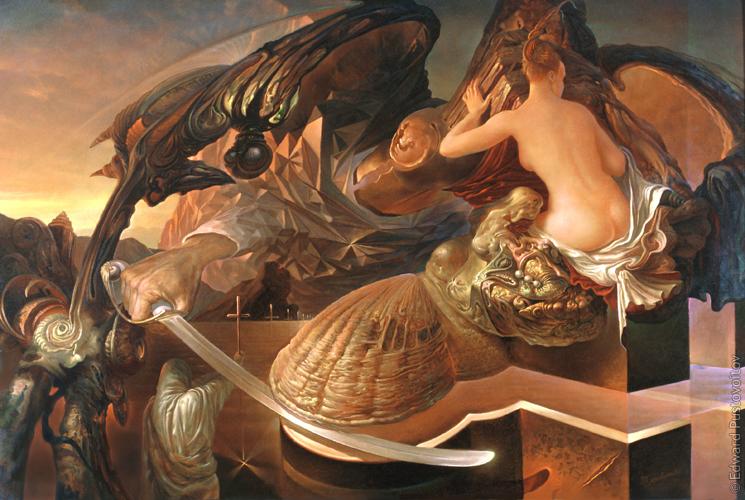 Взлетающий сфинкс. (частная коллекция, Юрмала)