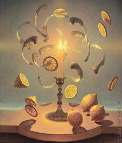 Ножи и лимоны. (частная коллекция, Рига)