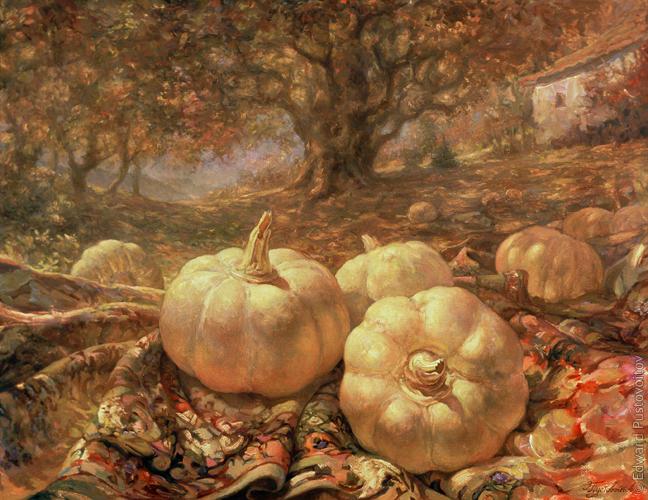 Осенний натюрморт. (частная коллекция, Рига)