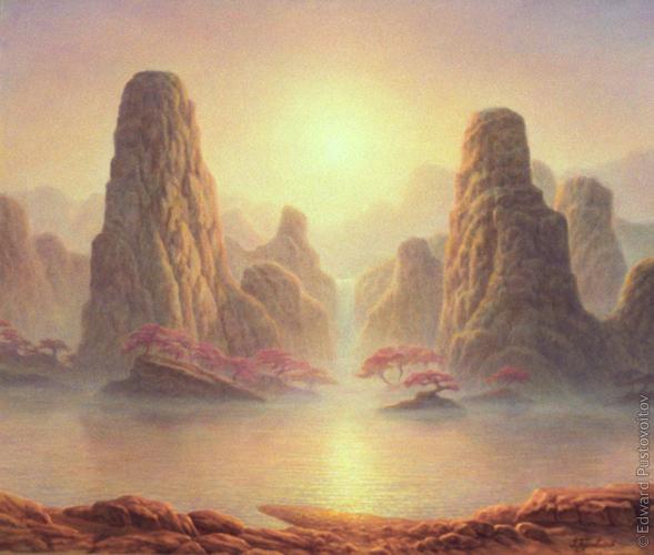 Берег Сакуры. (частная коллекция, Рига)