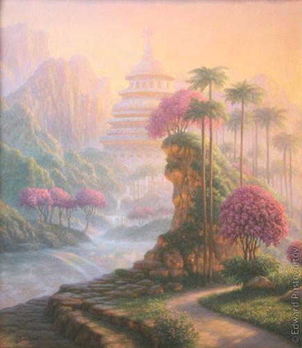 Утренняя прогулка. (частная коллекция, Юрмала)